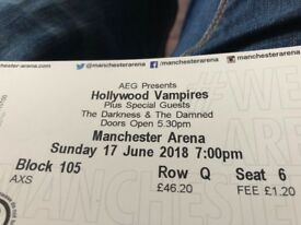 2 Tickets - Hollywood Vampires + The Damned & The Darkness - Manchester Arena - Sunday 17th June