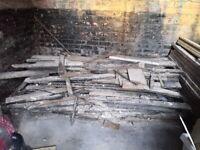 Free fire wood bonfire pine floorboards kindling