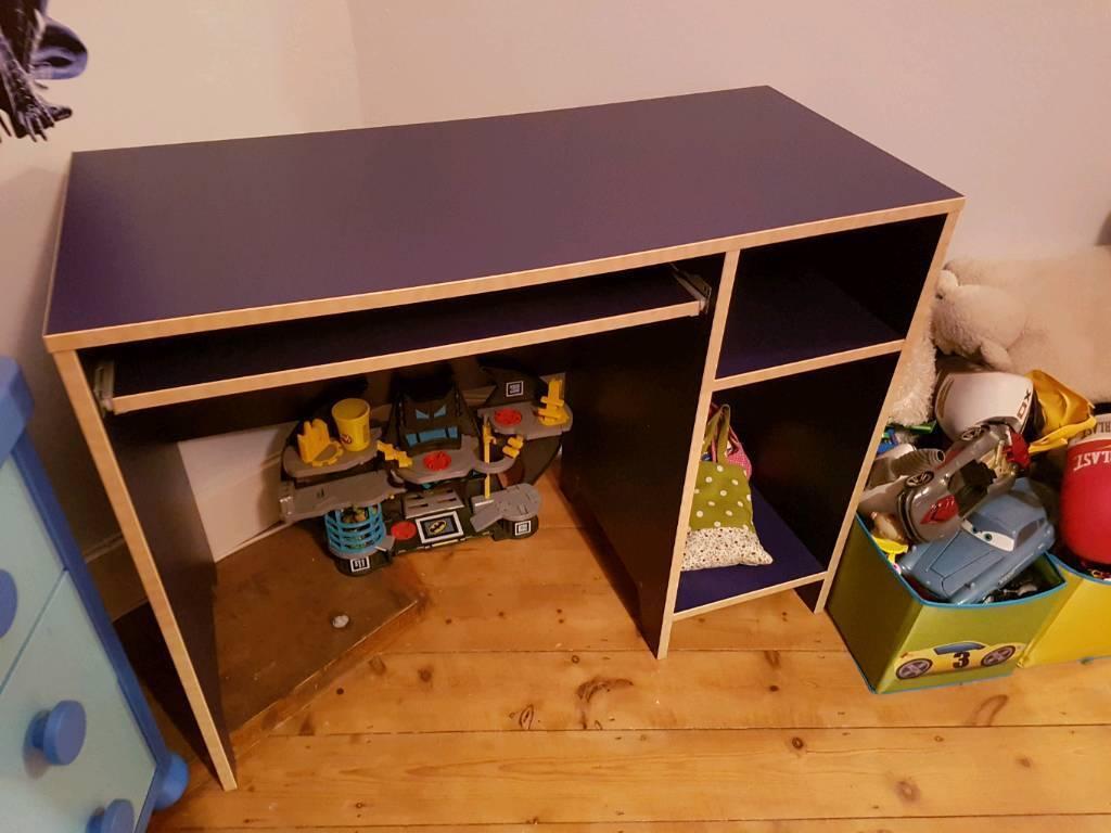 Children's dark blue desk