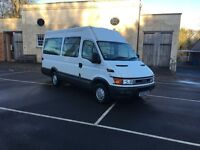 Iveco Daily 2800cc 14 seat minibus 1 years MOT 49,000 miles Serviced every 14 weeks