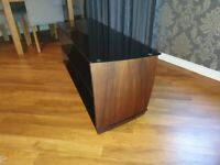 Contempary Black Glass & Wood unit