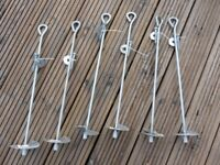 Galvanised Steel Ground Anchors x 6
