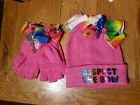 Jojo siwa pink hat and gloves - BNWT