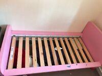 Pink ikea children's bed