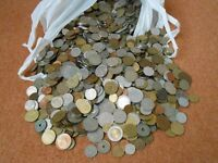 10 kg bag of foreign coins. Various Countries and periods.
