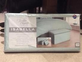 Isabella Large Seat & Storage Mint Ottoman new. SOLD