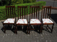 1930's Panelback Dining Room Chairs and Extending Oak Table