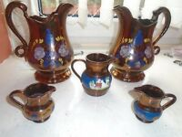 hand painted decorative jugs