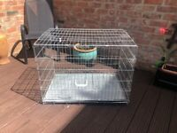 Dog cages two large and extra large good quality
