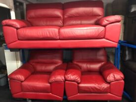 NEW - EX DISPLAY ScS LEATHER NIXION 3 + 1 + 1 SEATER SOFAS 75% Off RRP