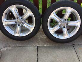 "4""17 inch Audi teknik alloys Pirelli tyres."