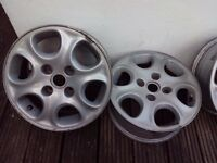 "Set of 4 alloy wheels 14"" good condition"