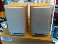 Sanyo Premium Bookshelve Speakers (Pair) Removable Grill