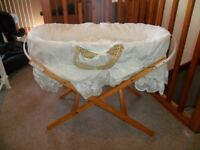 Moses basket & matress