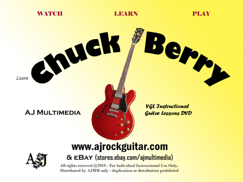 Custom Guitar Lessons - Learn Chuck Berry style - DVD Video