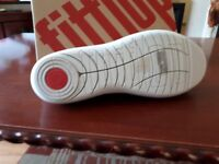 brand new fitflop shoes size 7 (41). beige canvas mary-jane style