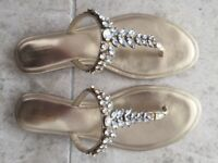 Gold and Silver sandals from DUNE - size 41