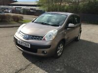 2007 NISSAN NOTE 1.4 PETROL,FULL YEAR MOT,FULL SERVICE HISTORY,2 KEYS,WARRANTY MILEAGE,HPI CLEAR