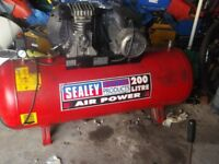Sealey 200 litre 3 horse power single phase Compressor £295