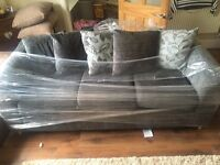 Brand new 3 seater charcoal grey sofa
