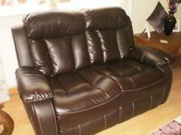 2 + 3 SEATER FAUX LEATHER SUITE
