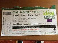 Ideal Home Exhibition - 1 ticket Fri 24 Sat 25 or Sun 26 March £15 (on door £21)