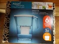 AQUA OPTIMA Liscia 2.5ltr Water Filter Jug Which Also Includes 3 x 60 Day Filters