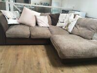 Bailey cord right hand corner sofa