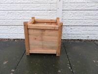 wooden planter.