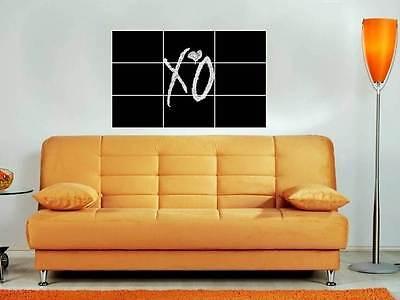 "THE WEEKND 35""X25"" INCH MOSAIC WALL POSTER R&B Abel Tesfaye N2"