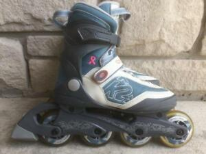 Like NEW K2 Aspire 3.1  Inline Skates (Rollerblades) Women's Size 6 - 80mm/80A ABEC-5