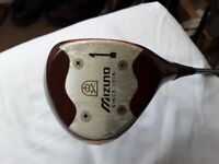 MIZUNO WOODEN HEADED DRIVER OIL TREATED COLLECTABLE