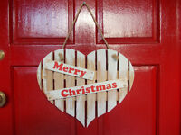 Vintage shabby chic Christmas sign