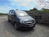 Vauxhall Zafira Life 7 Seats In Blue, 2007 07 reg, Service History, Last Serviced 8th December 2016