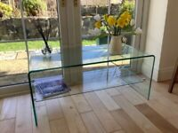 Tempered glass TV console/coffee table