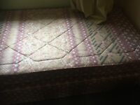 Single bed with divan base good condition