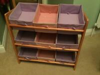 Kids shelf unit storage