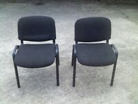 2 black office chairs set - Great condition