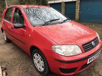 Fiat Punto Active 8V 1242cc Petrol 5 speed manual 5 door hatchback 53 Plate 18/09/2003 Red