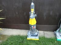 yellow and silver dyson dc07 model working order