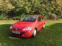 Vauxhall Corsa Red. Low Milage. Good Condition