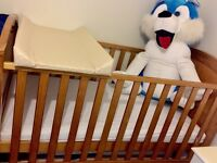 Cot Changing Station & Brand New Mamas & Papas Mattress & Protector RRP £300