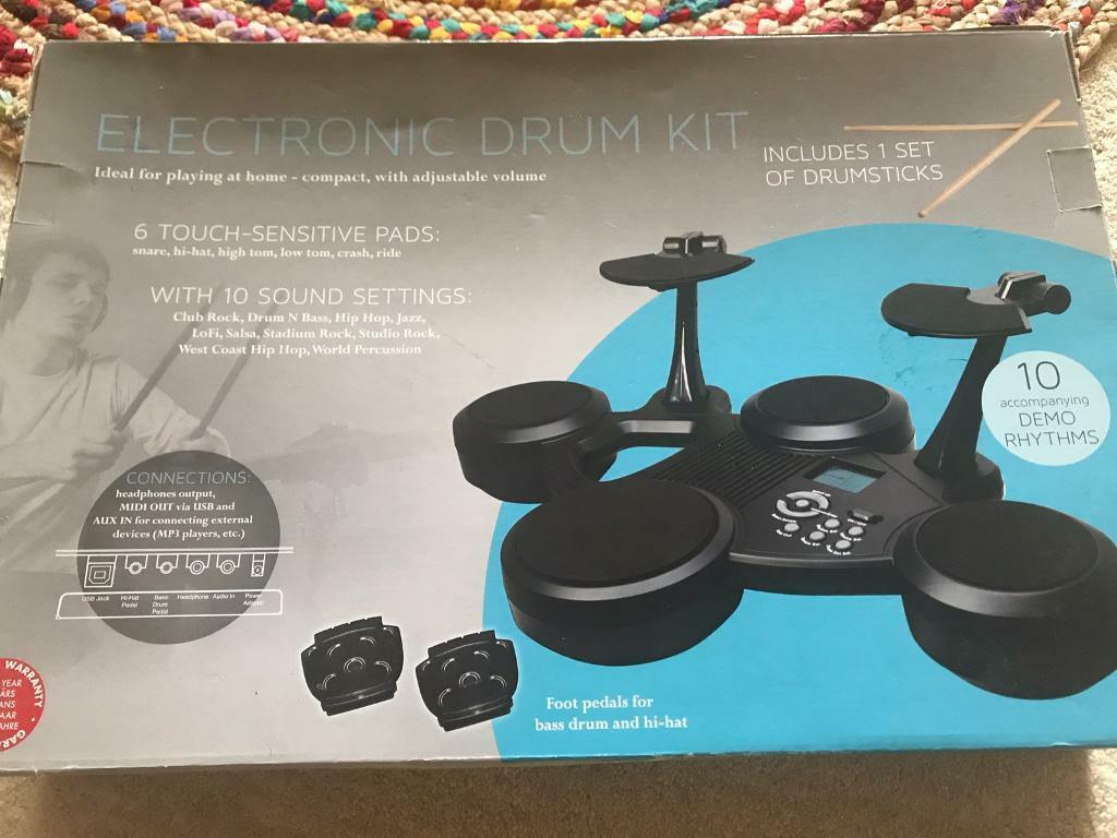 Electronic Drum Kit - never used | in Hucknall, Nottinghamshire | Gumtree