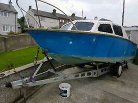 19ft boat + trailer + 2 engines