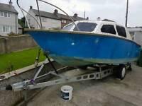 19ft boat + trailer + 2 engines