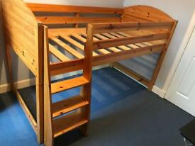 Mid sleeper Pine bed