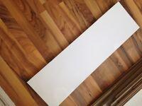 White gloss floating wall shelves