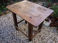 Antique Solid Oak Rustic Table.