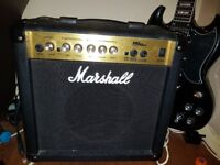 Tokai Guitar with Marshall amp