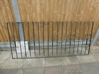 WROUGHT IRON RAILINGS x 2 SECTIONS